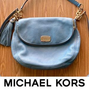 MICHAEL KORS Soft Leather Foldover Bag